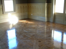 1. Stained Oak parquetry panels Harkaway