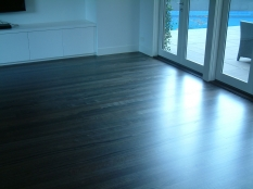 2. Messmate Floorboards Ebonized Oak Stain