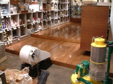 4. Drying Non toxic floor finish in a gourmet food shop Toorak